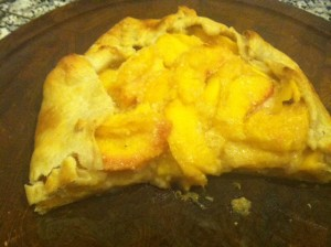 Nectarine free form pie